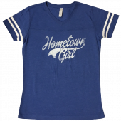Josh Turner Royal V Neck Football Tee