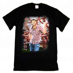Josh Turner Black Tee- Red Plaid Shirt