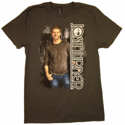 Josh Turner 2014 Charcoal Tee- The Roughstock & Rambler Tour