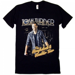 Josh Turner Roughstock & Rambler Tour Black Tee- ADULT and YOUTH sizes available!