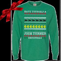 Josh Turner Long Sleeve Green Christmas Tee