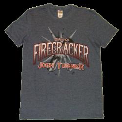 Josh Turner Heather Navy Firecracker Tee