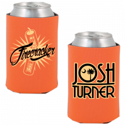 Josh Turner Orange Firecracker Koozie