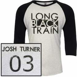 Josh Turner Vintage Black and Heather White Raglan Tee