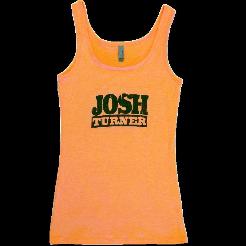 Josh Turner Neon Heather Orange Tank