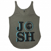Josh Turner Ladies Stonewash Green Tank