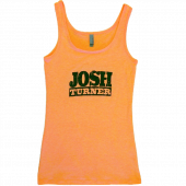 Josh Turner Neon Heather Orange Tank