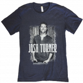 Josh Turner Heather Navy Photo Tee