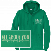 Josh Turner Kelly Green Zip Up Hoodie