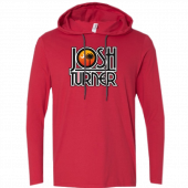 Josh Turner Long Sleeve Red Hooded Tee