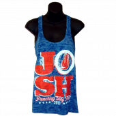 Josh Turner Royal Burnout Razorback Tank