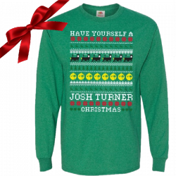 Josh Turner Long Sleeve Green Christmas Tee