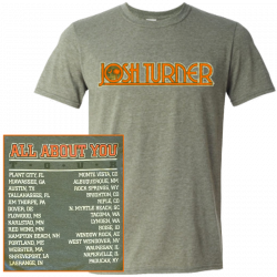 Josh Turner Heather Military Green Tour Tee