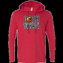 Josh Turner Long Sleeve Red Hooded Tee