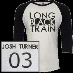 Josh Turner Vintage Black and Heather White Raglan Tee