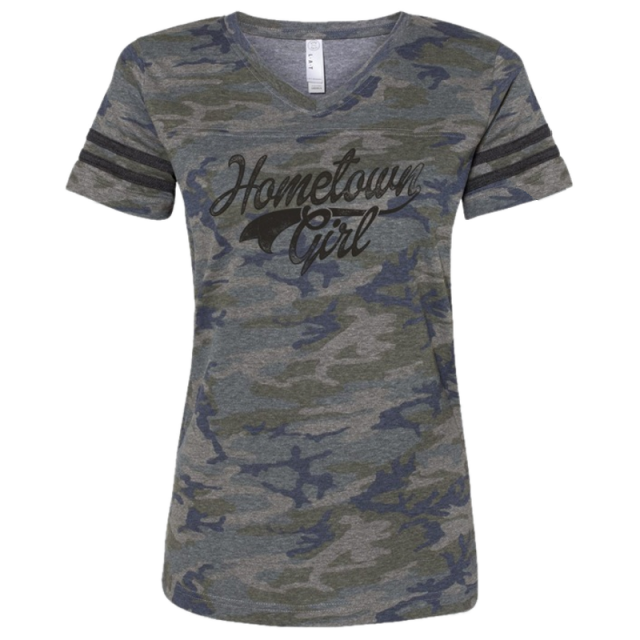 Josh Turner Ladies Camo and Black Jersey Tee
