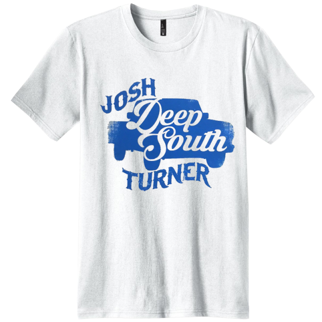 Josh Turner  White Deep South Tour Tee