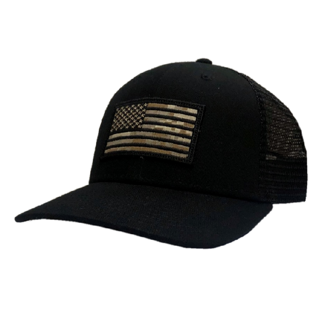 Josh Turner Camo Flag Black Ballcap