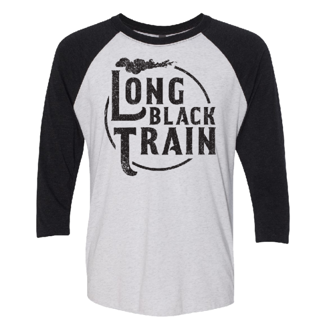 Josh Turner Heather White and Black Raglan Tee