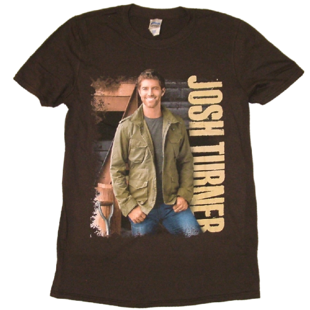 Josh Turner Chocolate Brown Tee- Military Green Jacket