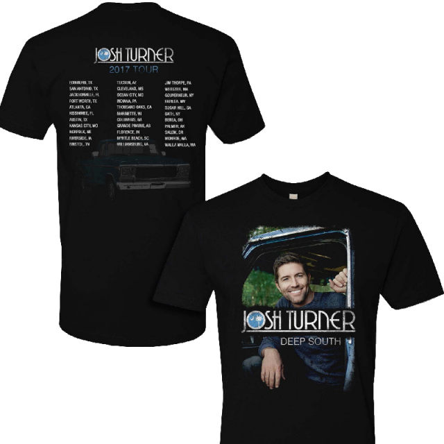 Josh Turner 2018 Black Deep South Tour Tee