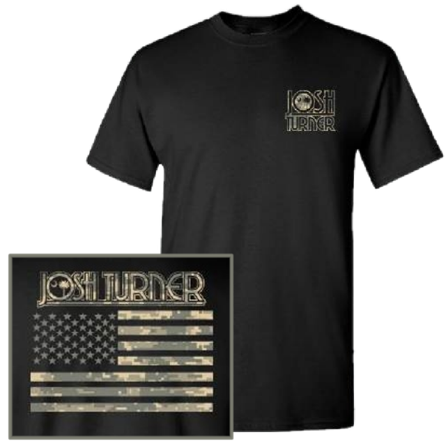 Josh Turner Digital Camo Black Tee