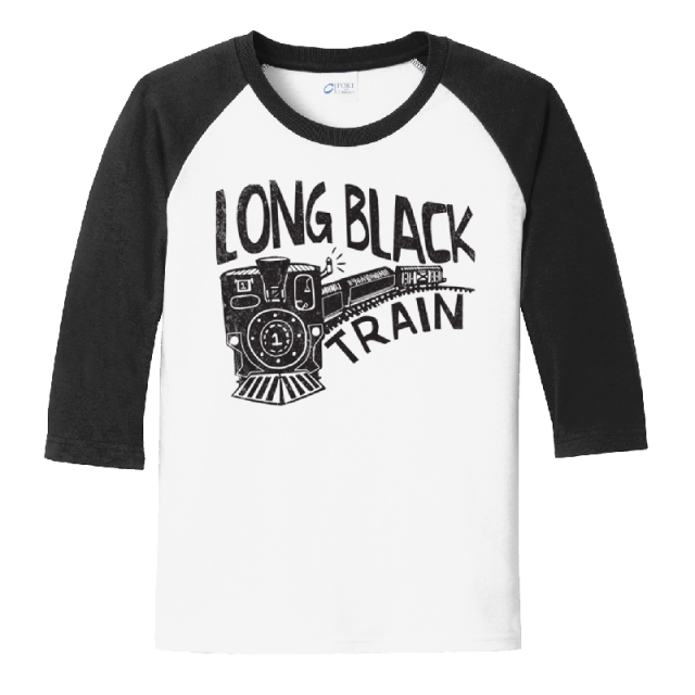 Josh Turner YOUTH White and Black Raglan Tee